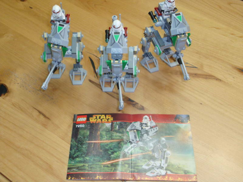 LEGO STAR WARS 7250 CLONE SCOUT SCOUT SCOUT WALKER LOT ALL 100% 44c6a0