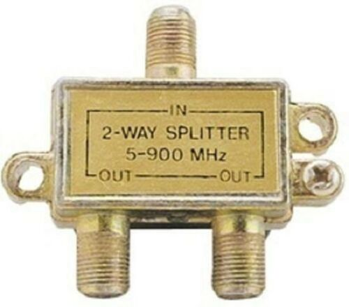 10 Pack 2-Way Signal Splitter Adapter 5-900 MHz Cable TV Antenna Satellite