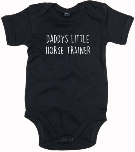 HORSE TRAINER BODY SUIT PERSONALISED DADDYS LITTLE BABY GROW GIFT