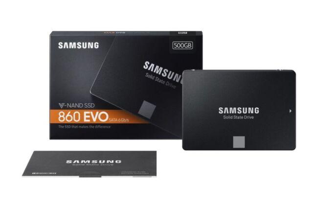 "Samsung 500GB 860 EVO SSD 2.5"" SATA III MZ-76E500B/AM Internal Solid State Drive"