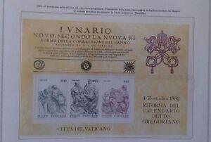 Riforma Calendario Gregoriano.Dettagli Su Vaticano 1982 Foglietto 4 Centenario Riforma Calendario Gregoriano Lunario