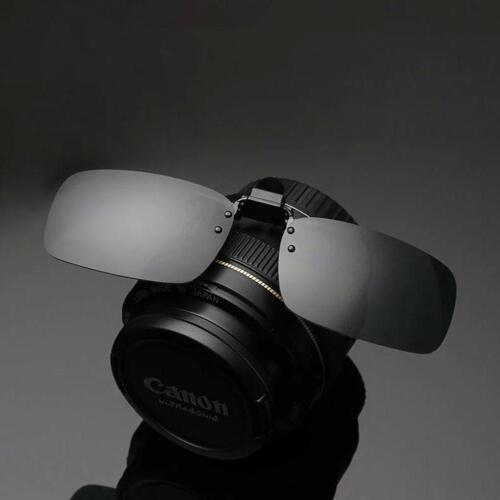 HD Lunettes de Conduite Vision Nocturne avec Clip à Rabat Pièce Soleil Verres HF