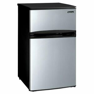 Magic-Chef-3-1-cu-ft-Mini-Refrigerator-in-Stainless-Look-Stainless-Steel