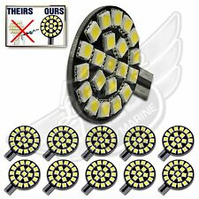10X T10 T15 921 194 Natural White RV Trailer Interior 12V LED Light Bulbs 21SMD