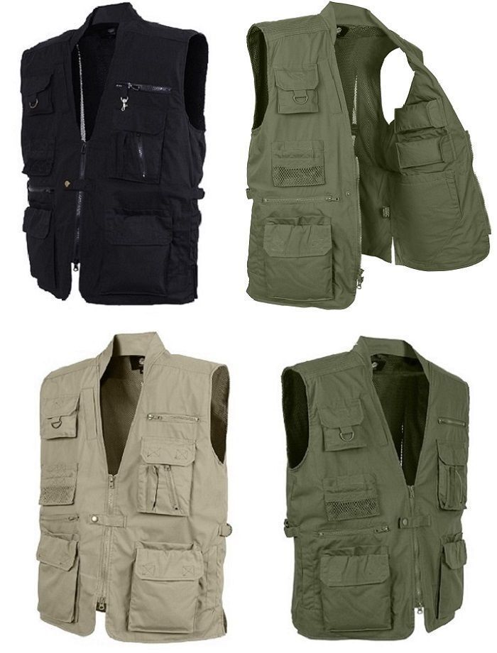 Police Security Military Tactical Plainclothes Concealed Carry Travel Vest 8567