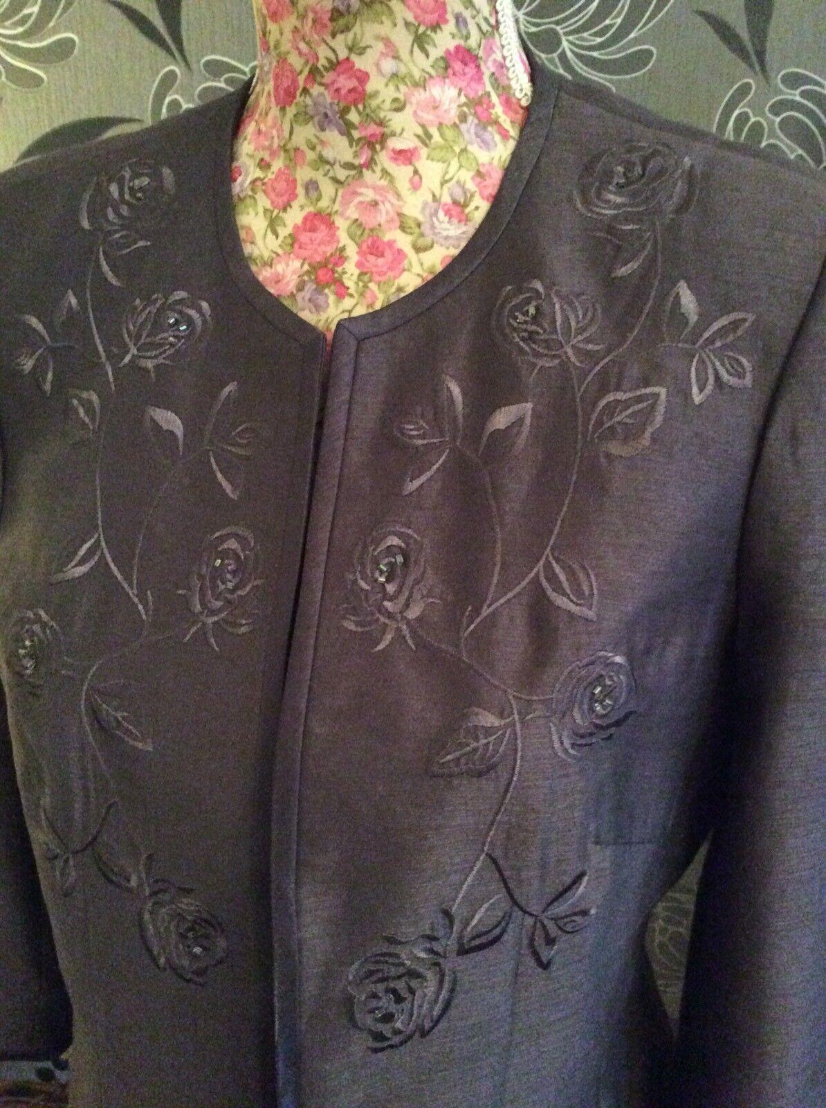 Jacques Grün Coco Salmon Range braun Dress Jacket S12 Pristine Hol