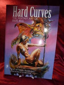 HARD-CURVES-Fantasy-Art-of-JULIE-BELL-Boris-Vallejo-BOOK-Paper-Tiger-1995-PB
