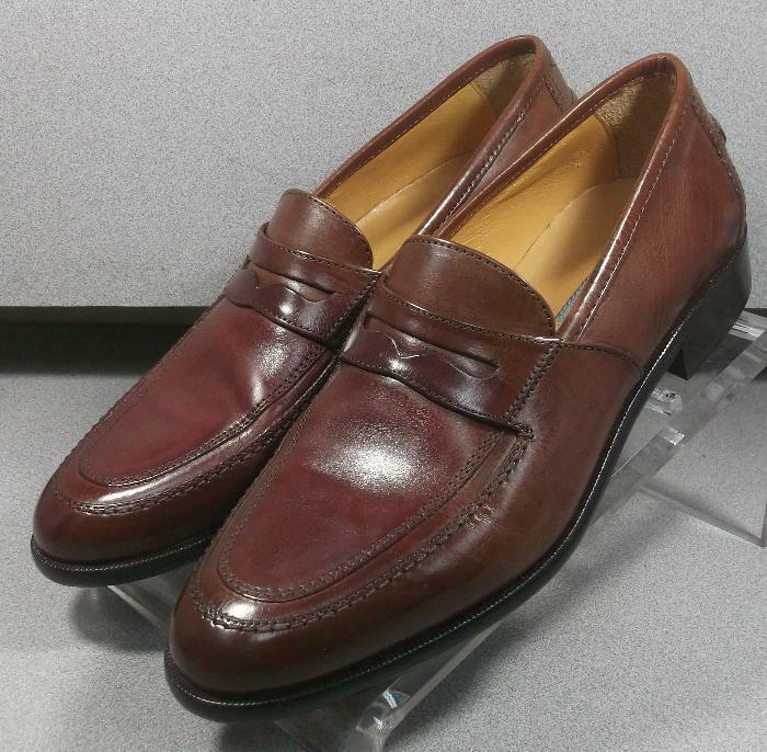 150782 MS50 Men's shoes Size 8.5 M Brown Leather Slip On Johnston & Murphy