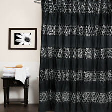 "Popular Bath Sinatra Black Collection - 70"" x 72"" Bathroom Shower Curtain"