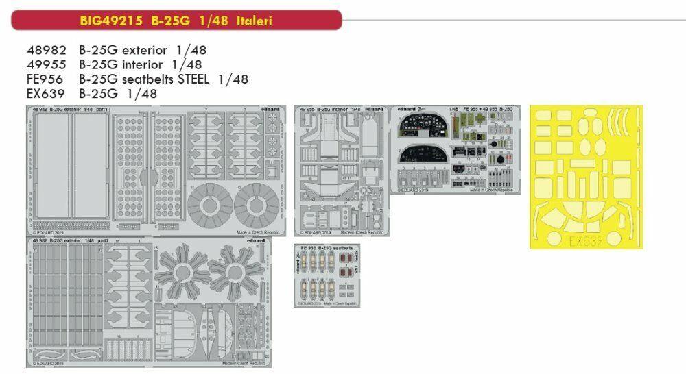 Eduard Big Ed 49215 1 48 North-American B-25G Mitchell Italeri