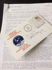 """Signed Apollo 11 Cover """"Frederick D Gregory"""" With Biographical Data"""