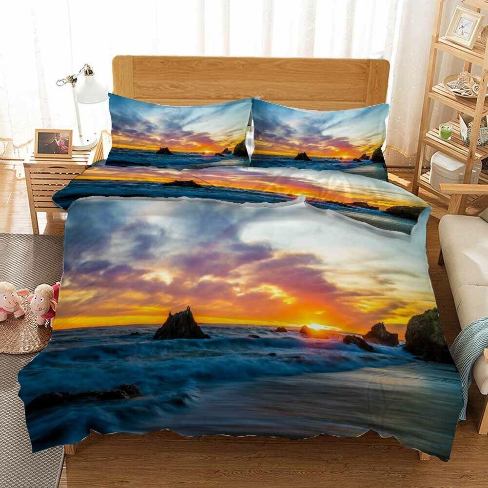 Half Lucky Cloud 3D Printing Duvet Quilt Doona Covers Pillow Case Bedding Sets