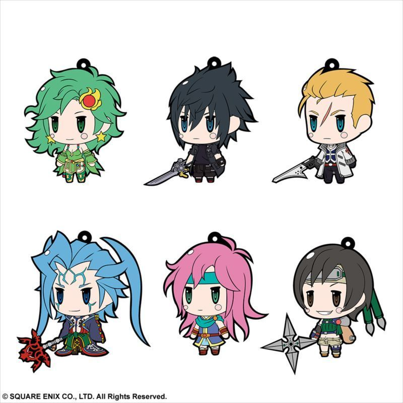 Final Fantasy Trading Rubber Strap Vol.8 BOX Item 1 BOX = 6 pieces, all 6 types