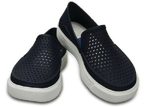 aac9dd233934 Image is loading Crocs-Mens-CitiLane-Roka-Slip-on-Navy-Blue-