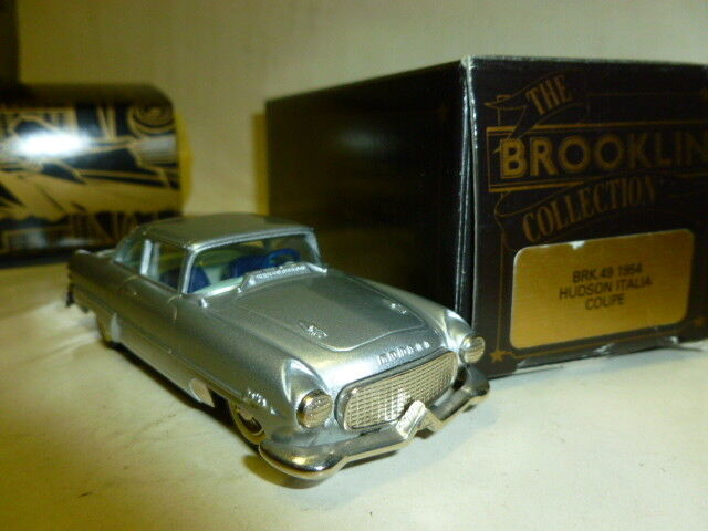 Die cast 1 43 HUDSON ITALIA COUPE 1954 -BROOKLIN BRK 49 scale 1 43 with box
