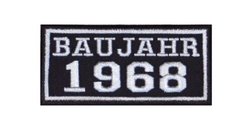 Anno di costruzione 1968 Biker Patch ricamate anni numero anno di nascita ROCKER MOTO MC BJ