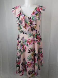 505f1c4e96f50 City Chic Plus Size Romance Ruffle Lipstick Floral Dress Pink 14W ...