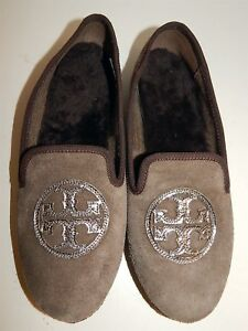 97ebcf15679 Image is loading Tory-Burch-7-M-Billy-Brown-Flannel-Shearling-
