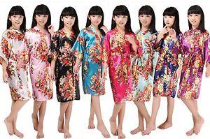 Children-Kimono-Robes-Bridesmaid-Flower-Girl-Dress-Kids-Silk-Bathrobe-Nightgown