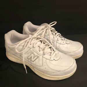 new balance mens 577wt walking shoe size 10 4e white