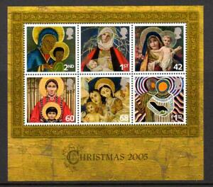 2005 GB MNH CHRISTMAS Miniature Sheet MS2588 Unmounted Mint Mini UMM