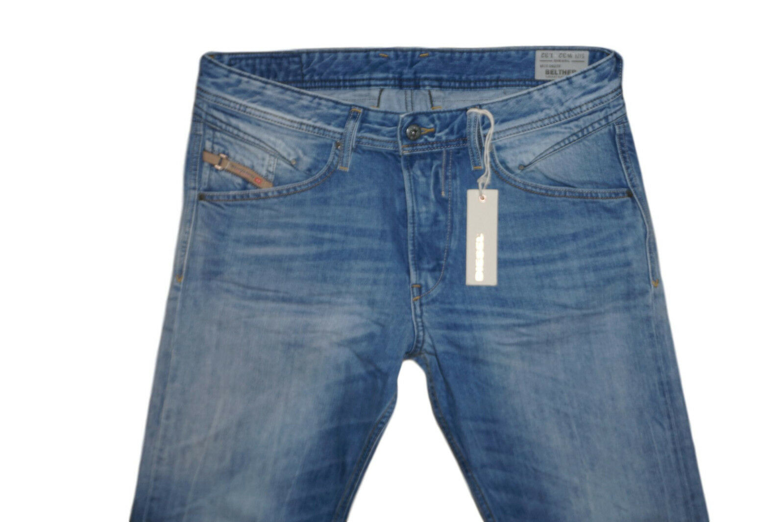 DIESEL BELTHER 0827F TAPErot JEANS W32 L32 100% AUTHENTIC