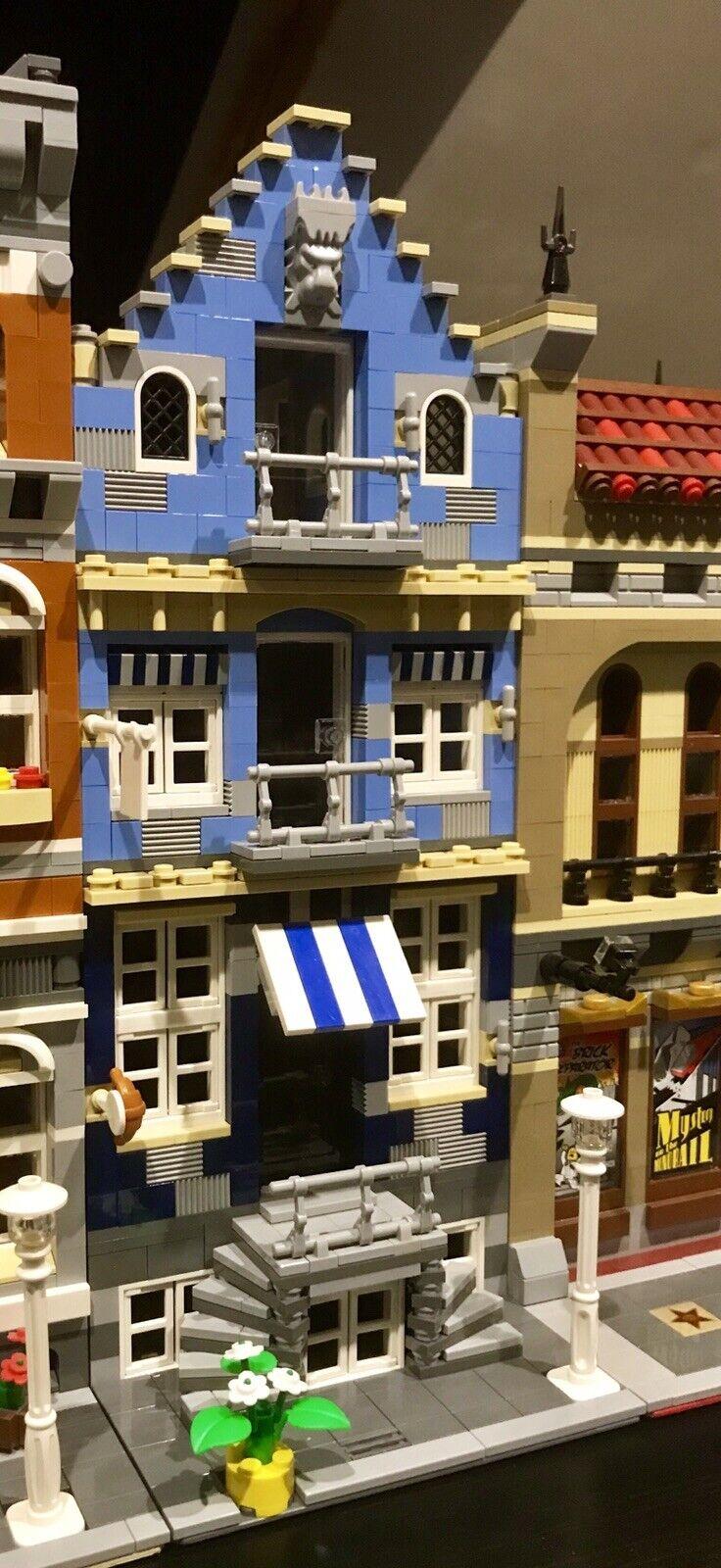 Construcción Lego Personalizado Modular como la calle 10190 del mercado encaja 10218 10185 Moc 483