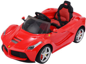 Image Is Loading Kids Ride On Electric Car Red Ferrari Ridding