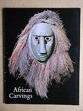 African Carvings. 1975 Exhibition Catalogue. Africa Art Sculpture History