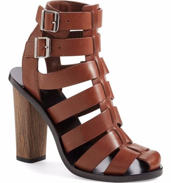 Vince Nicolette enjaulado Gladiador Con Tiras Tacón Alto Alto Alto Zapatos De La Sandalia Marrón 6  450  online al mejor precio