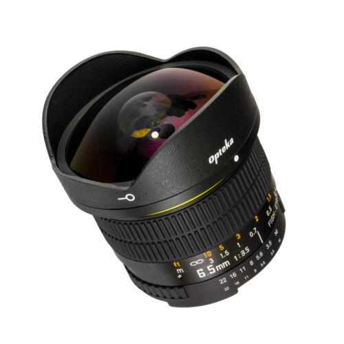 Opteka 6.5mm HD Lente Ojo De Pez para Nikon DSLR D300 D300s D600 D610 D700 D70