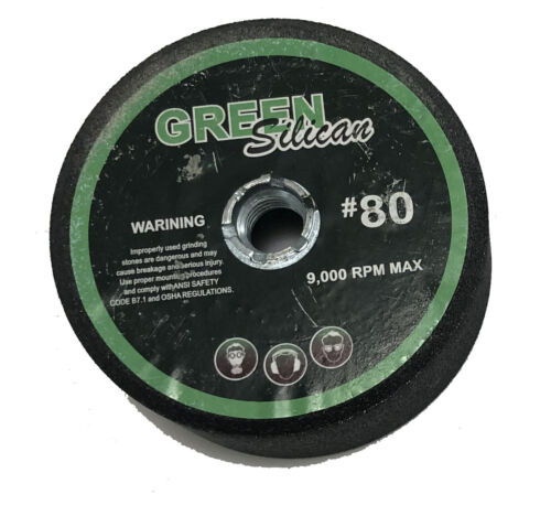 "4/""  Green silicon carbide grinding stones box of 10"