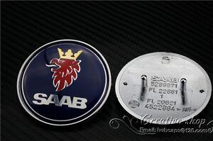 Saab-9-3-9000-900-Resina-Front-Hood-Bonnet-Insignia-50mm-Nuevo-parte-4522884