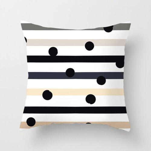 Polyester Pillow Case Cover Dot rayures jeter canapé Voiture Housse De Coussin Decor