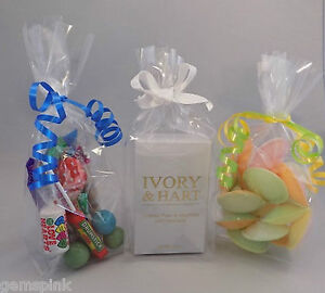 100-x-Clear-Cellophane-Sweet-Candy-Gift-Display-Bags-with-gusset-9-034-x-3-034-x-2-034