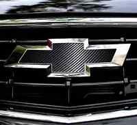 Chevy Bowtie Overlay Sheets Emblem Vinyl Decal Carbon Fiber Front+back Camaro