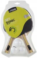 Table Tennis Bat: Stiga Bat Set Sonic 2 Bats + 3 Balls