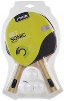 Table Tennis Bat: Stiga Bat Set Sonic 2 Bats + 3 Balls