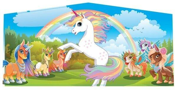 "Image 1 - Unicorn Art Panel 10'3"" x 5' Vinyl Banner For 13x13 Inflatable Bounce Houses"