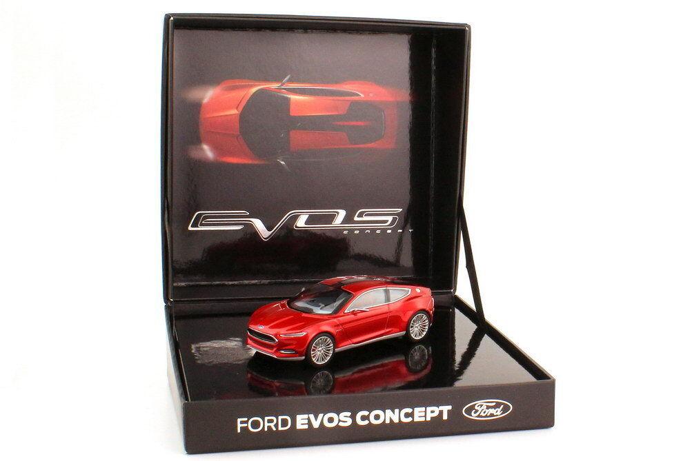 1:43 FORD EVOS CONCEPT CONCEPT CONCEPT rouge-piHommes t Rouge IAA 2011 - dealer-edition - OEM f149fb
