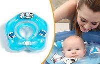 Baby Kind Schwimm Ring Hals Säugling Baden Schwimmen Fun Kinder Blau