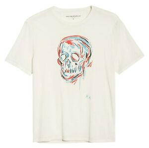 John-Varvatos-Star-USA-Men-039-s-Short-Sleeve-Skull-Sketch-Graphic-Crew-T-Shirt-Salt