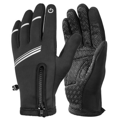 Bike Gloves Winter Thermal Warm Full Finger Ski Cycling Touchscreen Hand Warmer