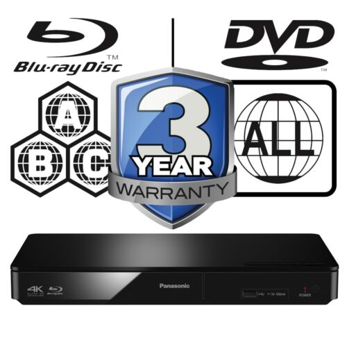 Panasonic3D Blu-ray Player Multi Region All Zone Free DMP-BDT170EB 4K Upscaling