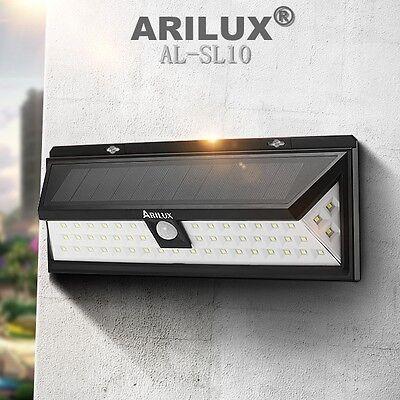 ARILUX 54 LED Solar Power PIR Motion Sensor Wall Light Outdoor Garden Waterproof