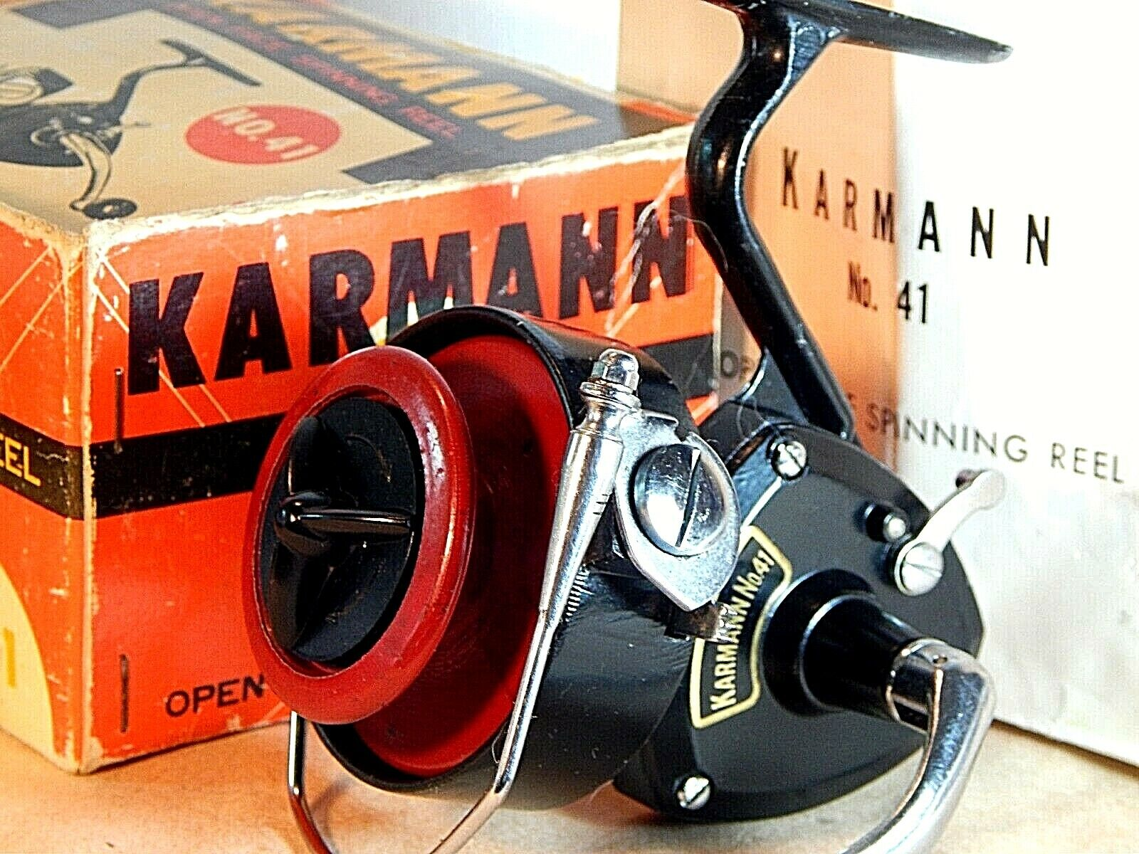 1968 Japanese Vintage Karmann No.41 spinning reel in original boxusedexcellent