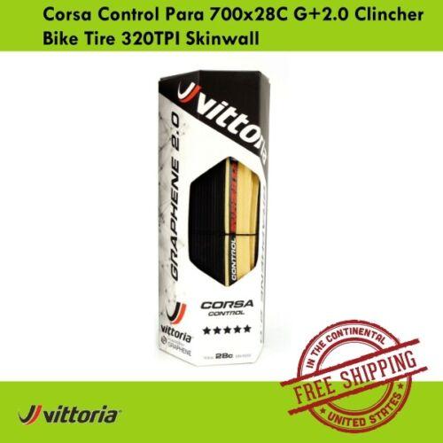 Vittoria Corsa Control Para 700x28C G+2.0 Clincher Bike Tire 320TPI Skinwall