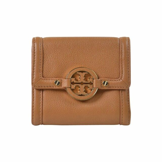 Tory Burch Amanda Leather Trifold French Wallet Royal Tan on   eBay 6cf1bb55f6
