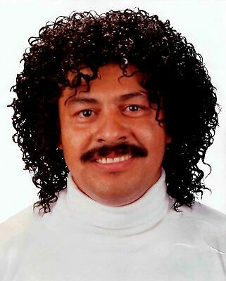 Jheri Curl Black Wig 80s Hair Jerry Afro Fro Pimp Prince Michael Jackson Costume