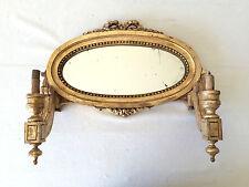 Applique à Miroir LOUIS XVI en bois Doré XIXeme